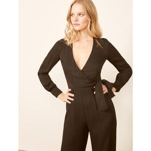 New Reformation Black Molly Jumpsuit sz 4